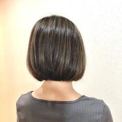 ボブ 大人ハイライト 3Dハイライト 外国人風カラー ヘアスタイルや髪型の写真・画像