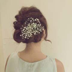 ヘアアレンジ コンサバ 結婚式 二次会 ヘアスタイルや髪型の写真・画像