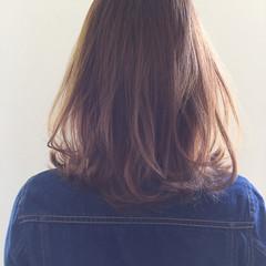 ナチュラル 透明感 外ハネ ミント ヘアスタイルや髪型の写真・画像