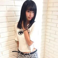 ピュア 暗髪 ロング 黒髪 ヘアスタイルや髪型の写真・画像