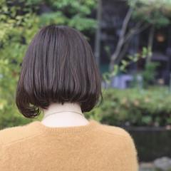 アッシュ パーマ ハイライト ボブ ヘアスタイルや髪型の写真・画像