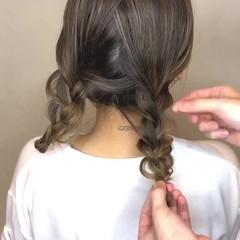 大人女子 ミディアム フェミニン 結婚式 ヘアスタイルや髪型の写真・画像