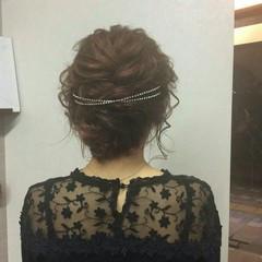上品 ヘアアレンジ 結婚式 セミロング ヘアスタイルや髪型の写真・画像