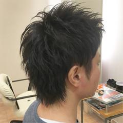 束感 メンズショート ナチュラル ツーブロック ヘアスタイルや髪型の写真・画像