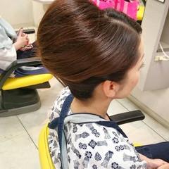 セミロング ヘアアレンジ 和装 着物 ヘアスタイルや髪型の写真・画像