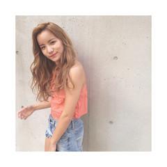 ストリート 渋谷系 アッシュ ロング ヘアスタイルや髪型の写真・画像