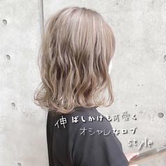 切りっぱなしボブ ボブ ナチュラル 3Dハイライト ヘアスタイルや髪型の写真・画像