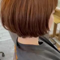 透明感カラー アッシュグレージュ ボブ ナチュラル ヘアスタイルや髪型の写真・画像