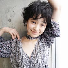 アンニュイ 大人かわいい ナチュラル ショート ヘアスタイルや髪型の写真・画像