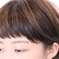 ショート ナチュラル ショートバング 前髪あり ヘアスタイルや髪型の写真・画像