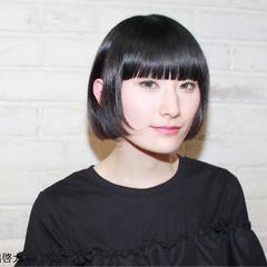 黒髪 モード 抜け感 ニュアンス ヘアスタイルや髪型の写真・画像