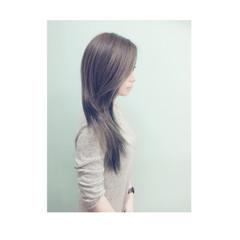 ナチュラル アッシュ グラデーションカラー 外国人風 ヘアスタイルや髪型の写真・画像