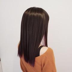 ロング ナチュラル ハイトーン インナーカラー ヘアスタイルや髪型の写真・画像