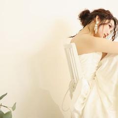 ポニーテールアレンジ 結婚式 結婚式ヘアアレンジ 結婚式髪型 ヘアスタイルや髪型の写真・画像