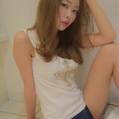 ストレート 女子会 セミロング リラックス ヘアスタイルや髪型の写真・画像