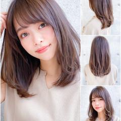 ミディアムレイヤー コンサバ 鎖骨ミディアム ミディアム ヘアスタイルや髪型の写真・画像