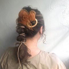 ヘアセット おしゃれ ポニーテールアレンジ フェミニン ヘアスタイルや髪型の写真・画像