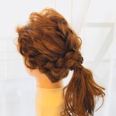 ナチュラル ロング ローポニーテール ヘアスタイルや髪型の写真・画像