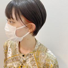 ガーリー ショートヘア イヤリングカラー ショート ヘアスタイルや髪型の写真・画像