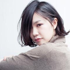 色気 暗髪 黒髪 秋 ヘアスタイルや髪型の写真・画像
