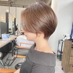 横顔美人 大人ショート ショートヘア ショートボブ ヘアスタイルや髪型の写真・画像