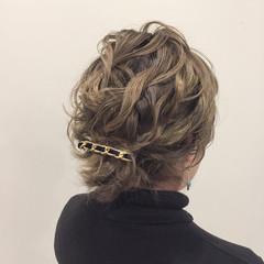 フェミニン デート ロブ ヘアアレンジ ヘアスタイルや髪型の写真・画像
