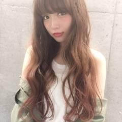 外国人風 ストリート グラデーションカラー ロング ヘアスタイルや髪型の写真・画像
