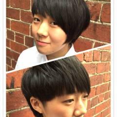 ショート モード ストリート 外国人風 ヘアスタイルや髪型の写真・画像