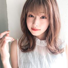 ストレート パーマ デジタルパーマ 前髪あり ヘアスタイルや髪型の写真・画像