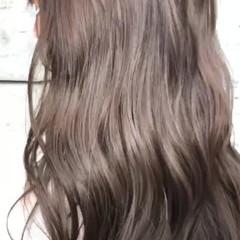ロング 外国人風 秋 シルバー ヘアスタイルや髪型の写真・画像