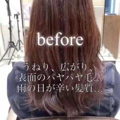 髪質改善 セミロング ロングヘア 髪質改善カラー ヘアスタイルや髪型の写真・画像