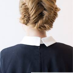 ヘアアレンジ 編み込み フィッシュボーン モード ヘアスタイルや髪型の写真・画像