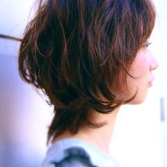 大人かわいい ショート ミディアム ストリート ヘアスタイルや髪型の写真・画像