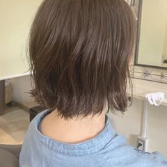 フェミニン 切りっぱなしボブ ミニボブ 外ハネボブ ヘアスタイルや髪型の写真・画像