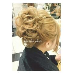シニヨン 大人かわいい ロング フェミニン ヘアスタイルや髪型の写真・画像