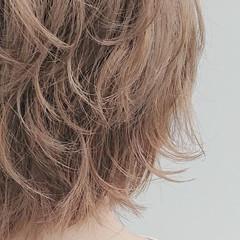 ミルクティーベージュ ショートボブ ベリーショート ショートヘア ヘアスタイルや髪型の写真・画像