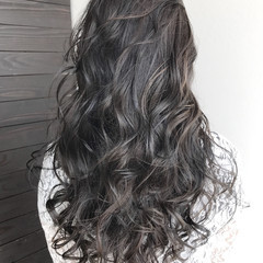 外国人風 ロング 冬 ハイライト ヘアスタイルや髪型の写真・画像