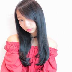 渋谷系 ロング 暗髪 黒髪 ヘアスタイルや髪型の写真・画像
