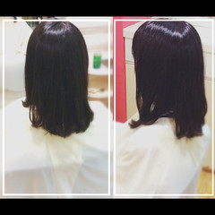 エレガント 髪質改善 艶髪 黒髪 ヘアスタイルや髪型の写真・画像
