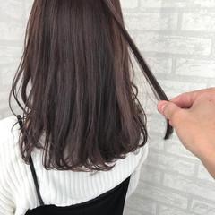 透明感 秋 冬 ミディアム ヘアスタイルや髪型の写真・画像