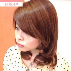 ナチュラル モテ髪 フェミニン ミディアム ヘアスタイルや髪型の写真・画像
