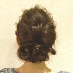 ゆるふわ ヘアアレンジ ミディアム ヘアスタイルや髪型の写真・画像