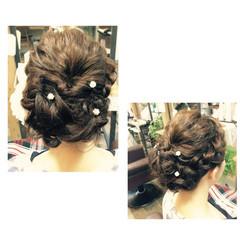 ヘアアレンジ 前髪あり ミディアム 大人かわいい ヘアスタイルや髪型の写真・画像
