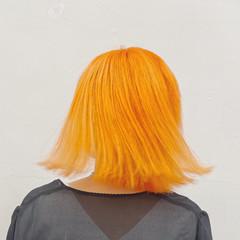 オレンジベージュ ホワイトブリーチ ブリーチカラー ダブルカラー ヘアスタイルや髪型の写真・画像