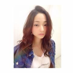 春 ストリート 外国人風カラー セミロング ヘアスタイルや髪型の写真・画像
