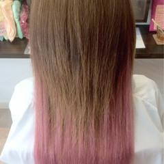 モテ髪 エクステ ピンク 愛され ヘアスタイルや髪型の写真・画像