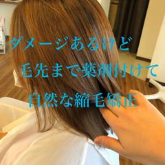 切りっぱなしボブ くびれボブ 髪質改善 大人ミディアム ヘアスタイルや髪型の写真・画像
