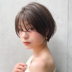 大人かわいい 簡単ヘアアレンジ ハンサムショート レイヤーカット ヘアスタイルや髪型の写真・画像