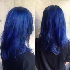 ロング 暗髪 グラデーションカラー 黒髪 ヘアスタイルや髪型の写真・画像