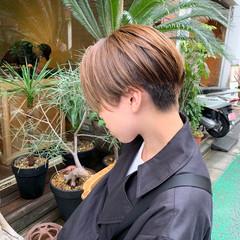 カジュアル ショートヘア ハンサムショート 刈り上げショート ヘアスタイルや髪型の写真・画像